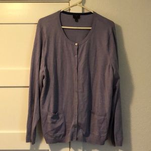 Talbots Purple Cardigan 2 Piece Set